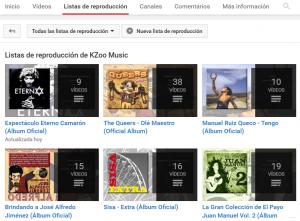 Listas de reproduccion YouTube - Consejos para músicos en KZoo Music