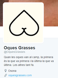 Ejemplo Perfil Twitter de Oques Grasses - marketing online para músicos con Kzoo Music