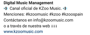 Instagram de KZoo Music