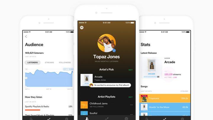 Spotify for Artists (II): edita la biografía, app ya disponible y… ¡muchas más novedades!