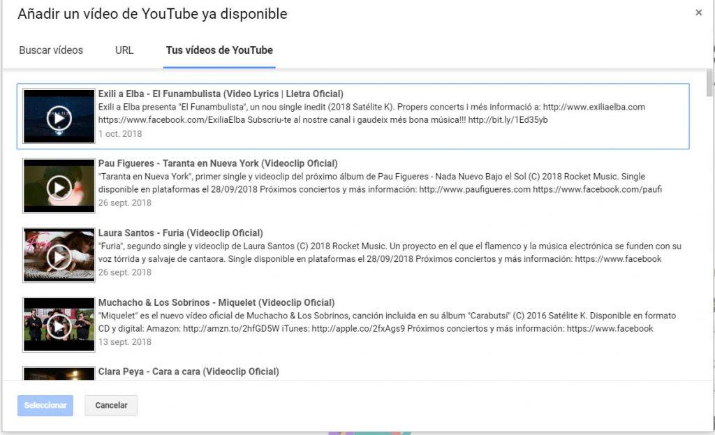Comunidad Youtube Videos