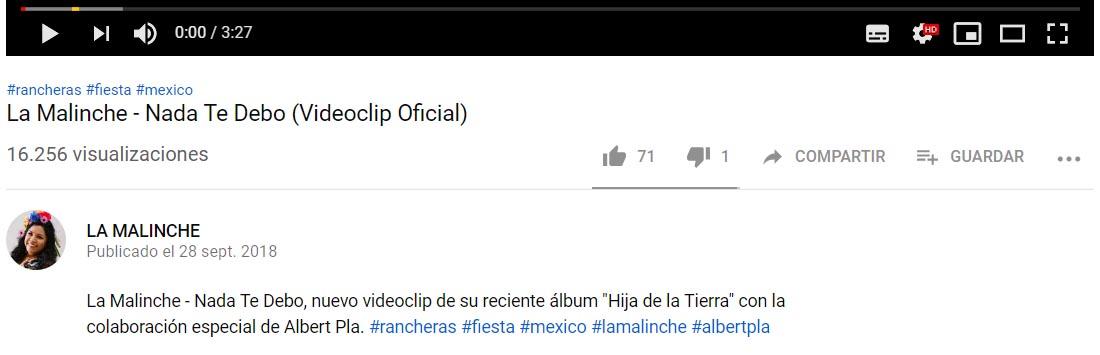 La Malinche Youtube